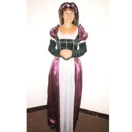 Renaissance Lady Burgundy, Black & Silver