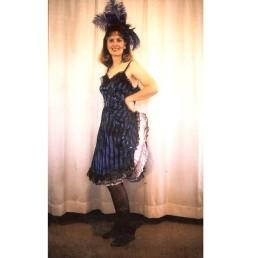 saloon girl blue & black