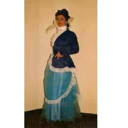 1890's lady blue