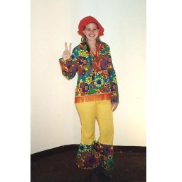 70's hippie flower child female