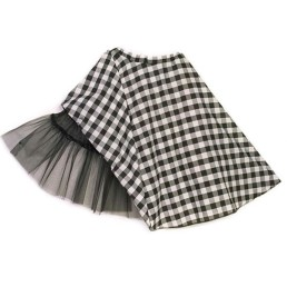 gingham swing skirt