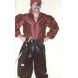 red satin pirate