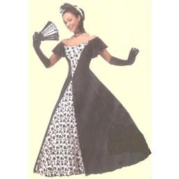 southern belle velvet black & white
