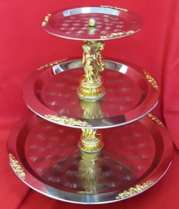 3 tier gold trimmed tray 2