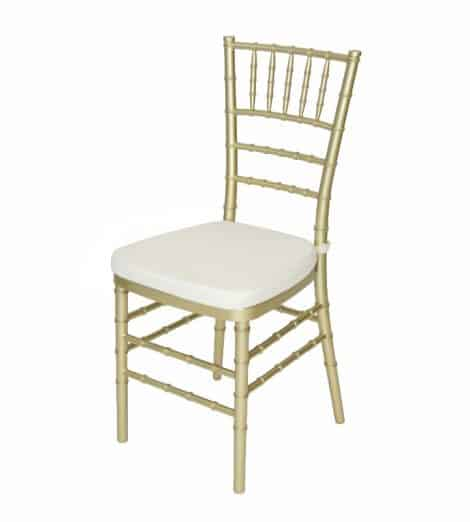 gold chivari chair ivory cushion