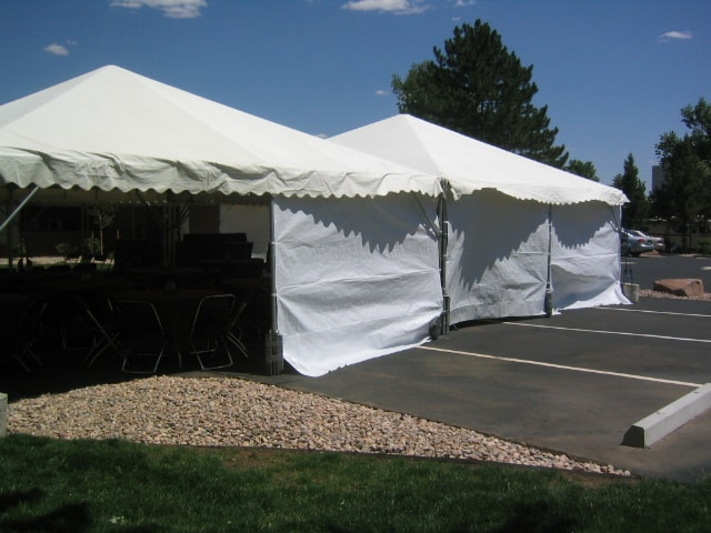 Canopy, Frame Tent Sidewall White 20′