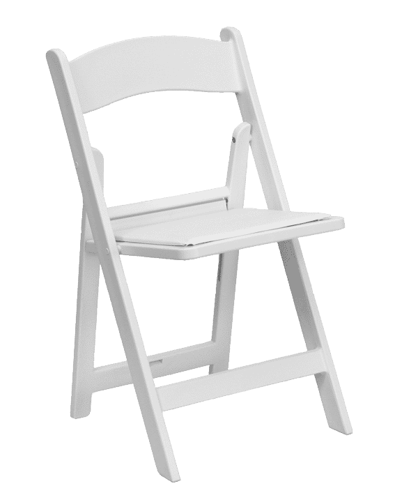 Chair Folding White Wedding With Pad