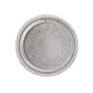 """silver 14"""" round tray"""