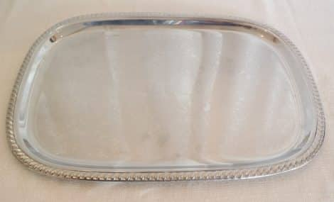 "silver 22"" rectangular tray"