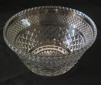 cut glass 3 quart serving bowl