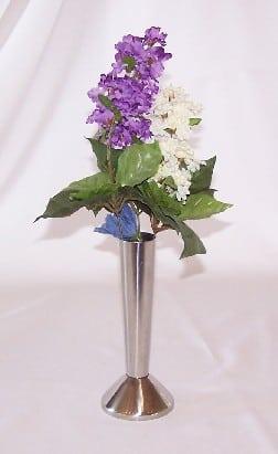 stainless bud vase