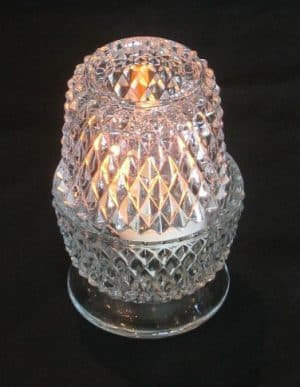 glass diamond cut votive candle