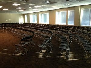 folding black chairs setup1