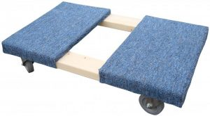 4 wheel carpeted dolly