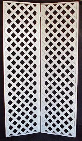 white lattice wedding screens