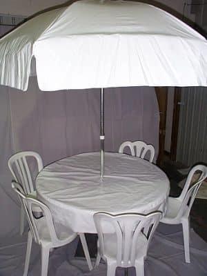 round umbrella tablecloth