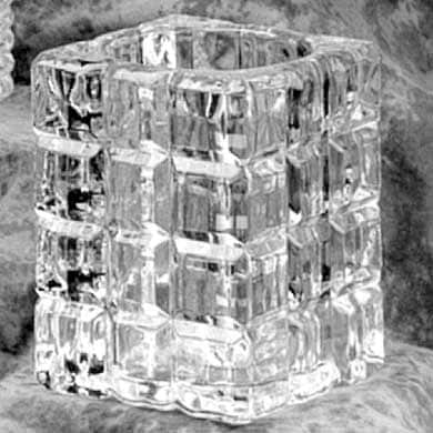crystal votive candle cube