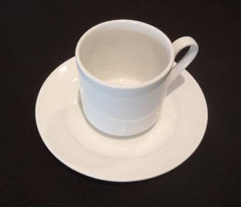 coffee cup saucer white