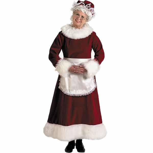 mrs santa costume deluxe velvet