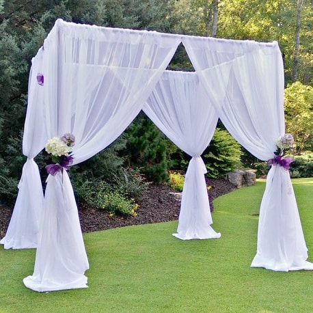 Wedding Arches For Rent.Rent A Sheer Drape Wedding Arch Cube At All Seasons Rent All