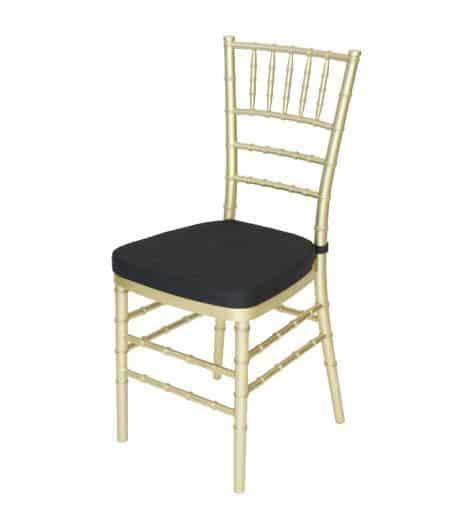 gold chivari chair black cushion