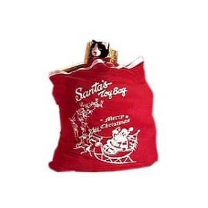 santa toy bag