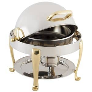 3 qt round roll top chafing dish