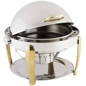 8 qt round roll top chafing dish