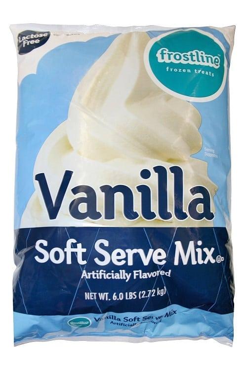 vanilla soft serve mix
